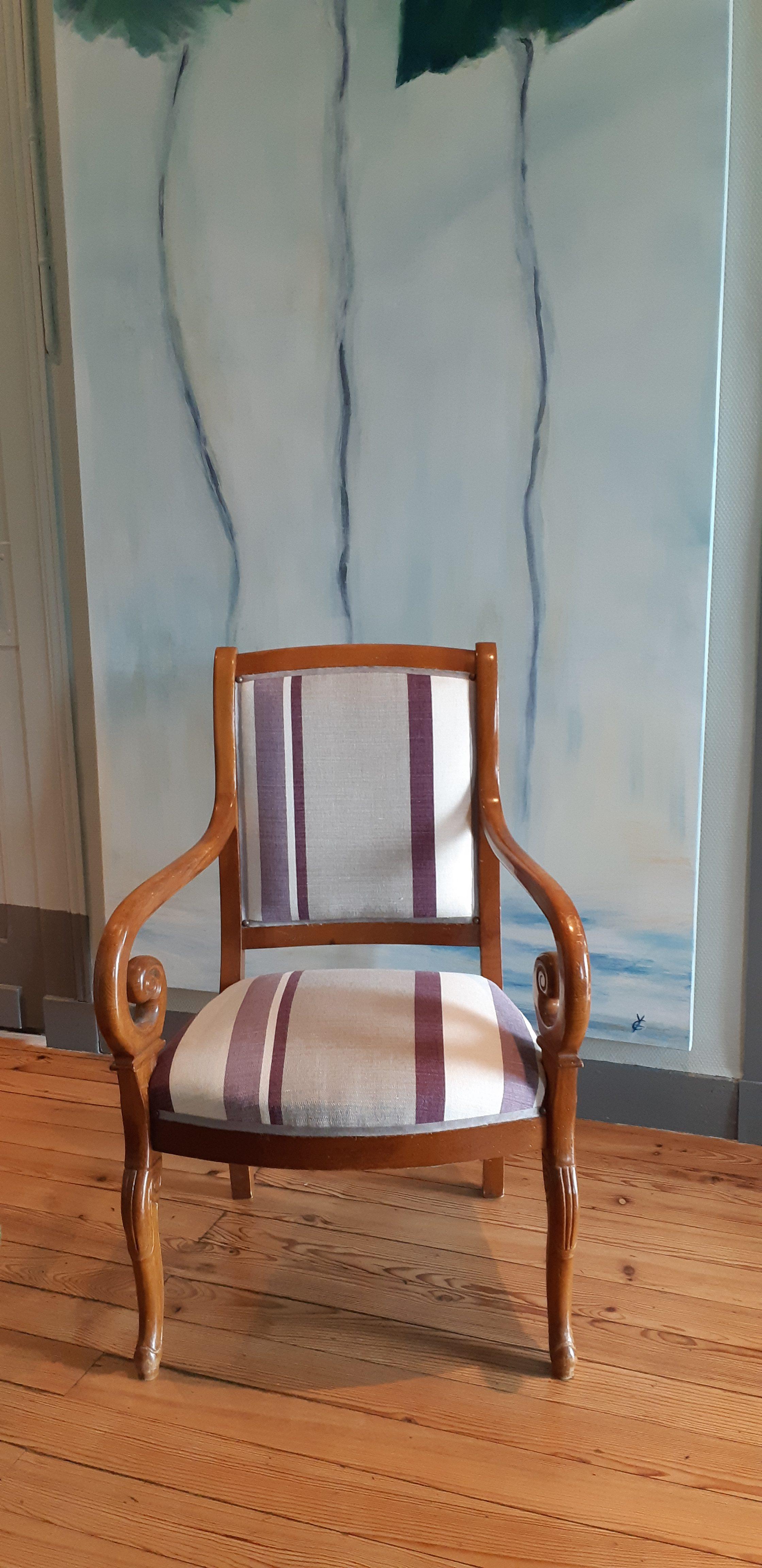 Cestas – Rénovation fauteuil de style Restauration