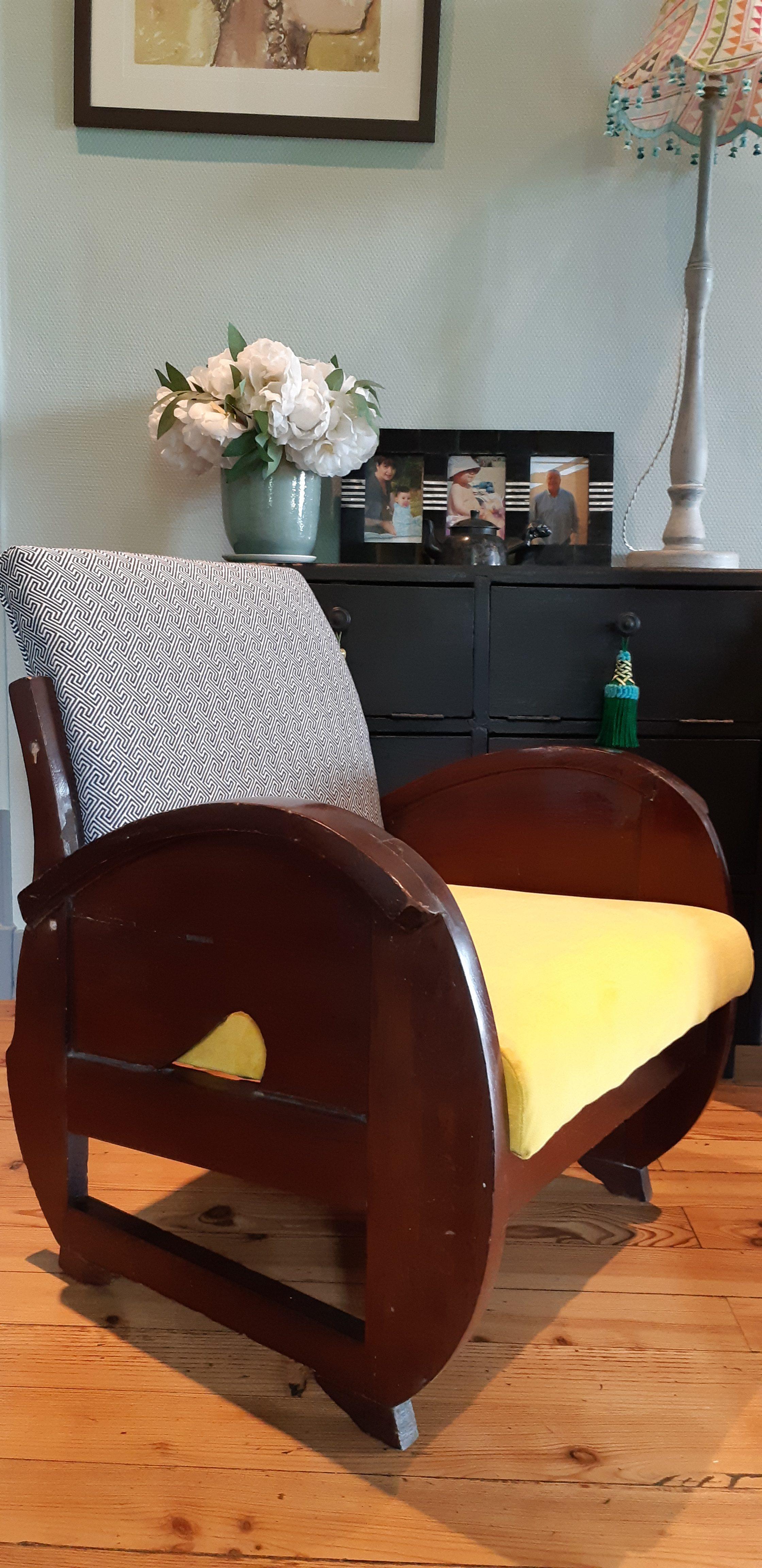 Bordeaux – Rénovation fauteuils de style Art Déco