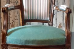 fauteuil-cabriolet-style-louis XVI-tapissier-decorateur-renovation-restauration-artisan-aquitaine-33000-1