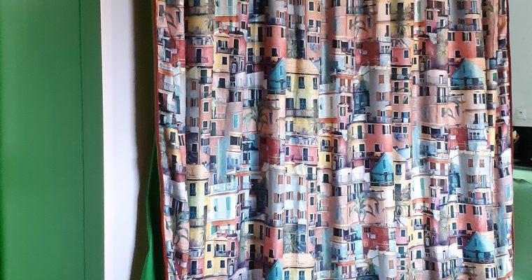 Bordeaux – Rideaux doublé sur mesure – Tête à plis Dior